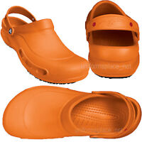 Crocs Bistro Unisex Clogs Work Shoes Mens Womens slip resistance Black White...