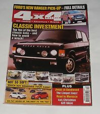 4X4 MAGAZINE DECEMBER 2011 - BUYING A CLASSIC 4X4 AND AVOIDING A WRECK