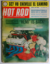 HOT ROD MAGAZINE VINTAGE 1964 APRIL HEMI CHEVY FORD MOPAR GM RACING