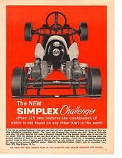 1960 SIMPLEX CHALLENGER GO-KART  ~  NICE ORIGINAL PRINT AD