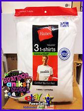 ✿ 3 Pack Hanes Men's White TAGLESS® Crewneck Undershirt Shirt EXTRA LARGE (XL) ✿