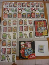 WACKY PACKAGES OLD SCHOOL 3 MASTER SETS TAN WHITE LUDLOW BACK 1967 142 CARDS wow