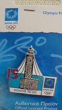 COUNTDOWN 15 MONTHS TO GO (ENGLISH) LIGHTHOUSE - ATHENS 2004 OLYMPIC PIN