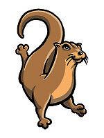 Otter swim team spirit mascot temporary tattoo, pkg 10