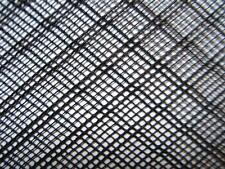 40x40cm Plástico neto fuerte Flexible Negro HDPE Insecto peces Malla De Tela Fina De 2 Mm