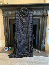H&M TREND BLACK ATELIER PRINT DRESS WITH DRAPED COLLAR - SIZE L LARGE *BNWOT*