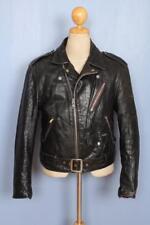Vtg SCHOTT PERFECTO Black Leather Motorcycle Jacket Size Small/Medium