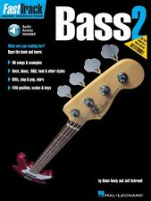 FastTrack Bass Method Book 2 - Music Instruction Book and Audio New 000697294