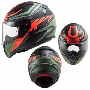 2021 LS2 Rapid Gale Full Face Street Motorcycle Helmet - Matte Black Red M.Green