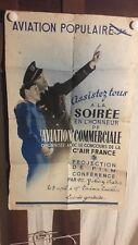 AFFICHE SOIREE FILM AVIATION AIR FRANCE ANNEES  38