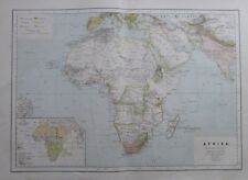 Karte aus 1889 - Afrika Politische Übersicht - alte Landkarte map