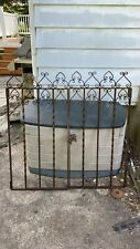 antique wrought iron butterfly gate