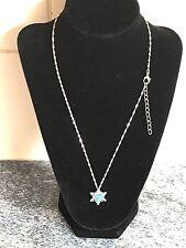 Charming Vintage Turquoise Snowflake Pendant