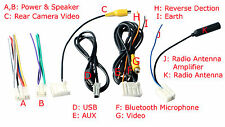 6 PCS Set Wiring Harness Toyota RAV4 Corolla Prado Radio CD USB AUX AV Bluetooth