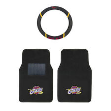 NBA Cleveland Cavaliers Carpet Floor Mats & Steering Wheel Cover 3PC Basketball