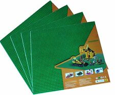 "1 genuine Lego + 4x Green Generic 15""x15"" Baseplate or 50x50 peg Base plates"