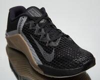Nike Metcon 6 Men's Black Grey Brown Gym Cross Training Shoes Athletic Sneakers