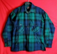 Johnson Woolen Men Hunting Togs Sport Clothing Plaid Wool Hunting Green Jacket