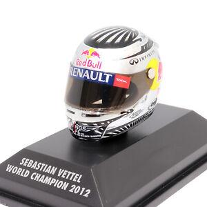 Minichamps Sebastian Vettel World Champion 2012 Arai Helmet 1:8 Scale Model