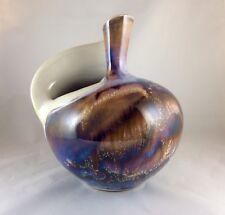 "Studio Art Pottery Ceramic Glazed Vase Signed DUDLEY SMITH PREIS HI.61/2""T61/2""W"