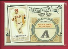 Paul Goldschmidt RC 2012 Topps Allen & Ginter What's in a Name Rookie Ins WIN92