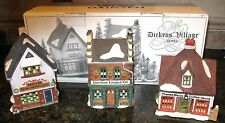 DEPARTMENT 56 CHRISTMAS VILLAGE 3  HOUSES HERITAGE DICKENS VILLAGE COLLECTION