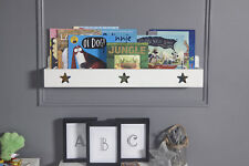 Kids Wall Mounted Book Shelf Childrens Bedroom Storage Ledge Stars