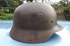 WW2 German Helmet m40 original bullet holes. Look .Excellent Quist 64