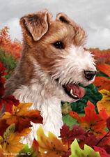 Fall Garden Flag - Wire Fox Terrier 130671
