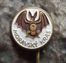 Moravian Caves Moravsky Kras Flying Long Eared Bat Tourist Souvenier Pin Badge