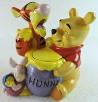 Disney Winnie The Pooh Tigger & Roo! Cookie Jar Genuine Disney Item with flaw