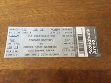 2019 NBA Finals Game 2 Ticket Stub Raptors Warriors Mint Box Office