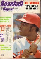 Baseball Digest Magazine December 1975 Joe Morgan 072417nonjhe