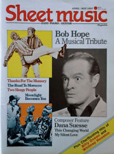 SHEET MUSIC MAGAZINE - BOB HOPE COVER STORY - APRIL / MAY 1987