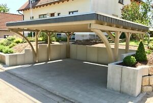 Doppelcarport 6x5, Schneelast 85 oder 125 kg/m², ca. 610 x 510cm, Kiefer kdi