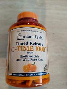 Puritan's Pride Timed Release Vitamin C-1000 w Bioflavonoids/Rose Hips 250 Caps