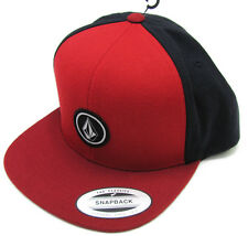 Volcom Quarter Snapback Hat Red and Blue Yupoong Snap Back Cap