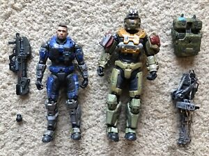 Loose McFarlane Halo Reach Jorge And Unhelmeted Carter Action Figure Lot