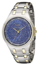 Accurist celestial Reloj Hombres Esfera Azul Pulsera Reloj GMT117USA PVP £ 350