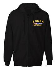 Law Enforcement Military KOREA VETERAN RIBBON Jacket Zipper Hoodie
