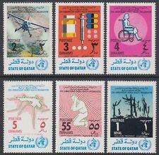 Qatar 1973 ** Mi.555/60 Gesundheit Health Medizin Medicine WHO Drogen Rollstuhl