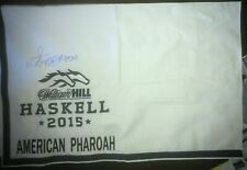 American Pharaoh saddle cloth signed triple crown champion  2018 THE HASKELL