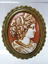 Antique Camay Celluloid Brooch Mount Brass with Pin / 100% Original