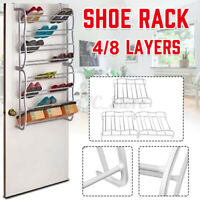 8/4 Shoe Holder Organiser Over The Door Hanging Shelf Rack Storage Hook