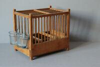 Vogelkäfig Vogelbauer Landhaus Shabby Chic original Glasbehälter 121971