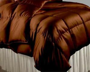 1000 TC Satin Silk 300 GSM 3 PC Down Alternative Comforter Set US Twin & Colors