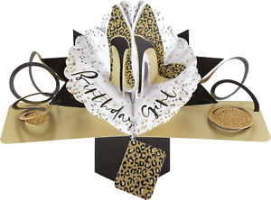 Leopard Print Shoes Birthday Card Pop Up 3D Card Second Nature Mum Friend Sister