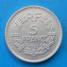 5 francs Lavrillier alu 1948 B  , cote SUP 180 euros