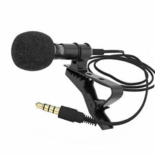 3.5mm Jack Stereo Mini Lapel Tie Clip Mic Condenser Microphone for iPhone iPad