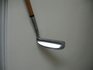 Rare MacGregor IM 5 Tourney Ironmaster Putter with Hickory Shaft / Leather Grip